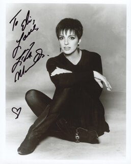 LIZA MINNELLI - AUTOGRAPHED INSCRIBED PHOTOGRAPH