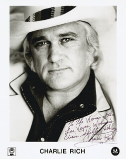 CHARLIE RICH - AUTOGRAPHED SIGNED PHOTOGRAPH