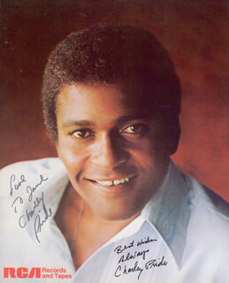 CHARLEY PRIDE - AUTOGRAPHED INSCRIBED PHOTOGRAPH