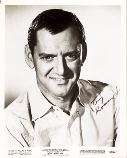 TONY RANDALL - PRINTED PHOTOGRAPH SIGNED IN INK