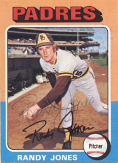 RANDY JONES - TRADING/SPORTS CARD SIGNED