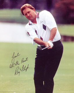 RAY FLOYD - AUTOGRAPHED INSCRIBED PHOTOGRAPH