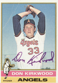 DON KIRKWOOD - TRADING/SPORTS CARD SIGNED