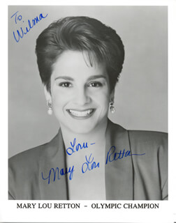MARY LOU RETTON - AUTOGRAPHED INSCRIBED PHOTOGRAPH