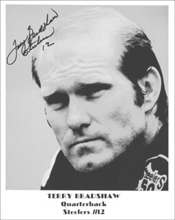 TERRY BRADSHAW - AUTOGRAPHED SIGNED PHOTOGRAPH