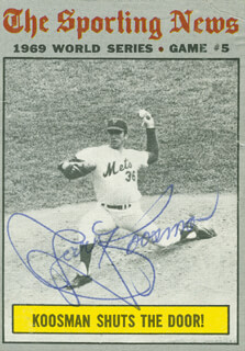 JERRY KOOSE KOOSMAN - TRADING/SPORTS CARD SIGNED
