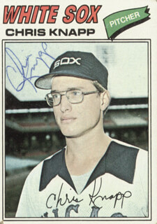 CHRIS KNAPP - TRADING/SPORTS CARD SIGNED