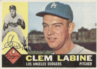 CLEM LABINE - TRADING/SPORTS CARD SIGNED