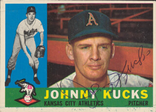 JOHNNY KUCKS - TRADING/SPORTS CARD SIGNED