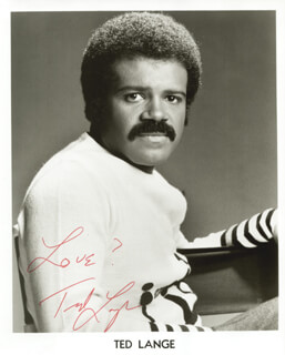 TED LANGE - AUTOGRAPHED SIGNED PHOTOGRAPH