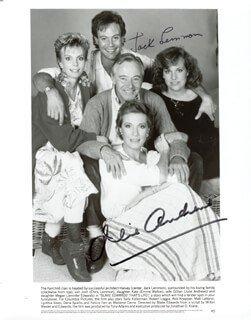 THAT'S LIFE MOVIE CAST - AUTOGRAPHED SIGNED PHOTOGRAPH CO-SIGNED BY: JULIE ANDREWS, JACK LEMMON