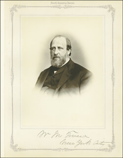 WILLIAM M. BOSS TWEED - PHOTOGRAPH MOUNT SIGNED