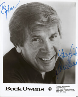 BUCK OWENS - AUTOGRAPHED INSCRIBED PHOTOGRAPH
