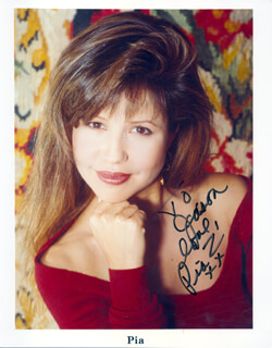 PIA ZADORA - INSCRIBED PRINTED PHOTOGRAPH SIGNED IN INK