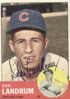 DON LANDRUM - TRADING/SPORTS CARD SIGNED