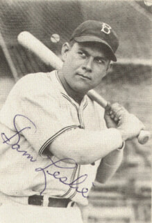 SAM SAMBO LESLIE - TRADING/SPORTS CARD SIGNED