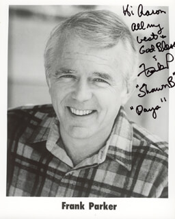 FRANK PARKER - AUTOGRAPHED INSCRIBED PHOTOGRAPH