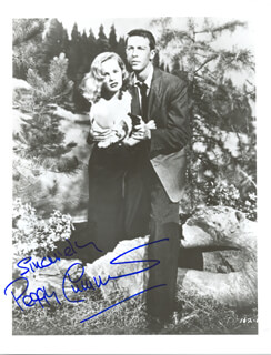 PEGGY CUMMINS - AUTOGRAPHED SIGNED PHOTOGRAPH