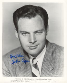 JOHN AGAR - PRINTED PHOTOGRAPH SIGNED IN INK
