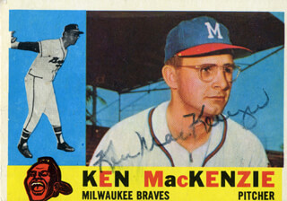 KEN MacKENZIE - TRADING/SPORTS CARD SIGNED