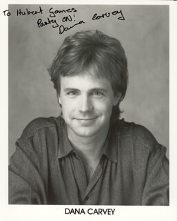 DANA CARVEY - INSCRIBED PRINTED PHOTOGRAPH SIGNED IN INK