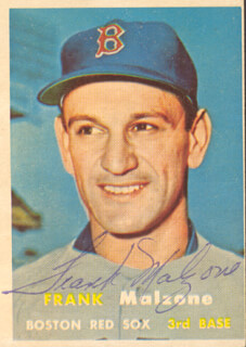 FRANK MALZONE - TRADING/SPORTS CARD SIGNED