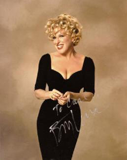 BETTE MIDLER - AUTOGRAPHED INSCRIBED PHOTOGRAPH