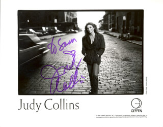 JUDY COLLINS - AUTOGRAPHED INSCRIBED PHOTOGRAPH