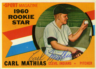 Autographs: CARL MATHIAS - TRADING/SPORTS CARD SIGNED