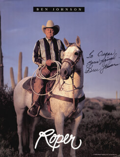 BEN JOHNSON - AUTOGRAPHED SIGNED PHOTOGRAPH