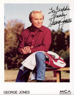 GEORGE JONES - AUTOGRAPHED INSCRIBED PHOTOGRAPH