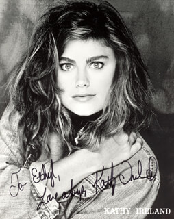 KATHY IRELAND - AUTOGRAPHED INSCRIBED PHOTOGRAPH