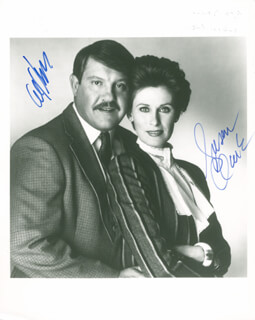 Autographs: ALEX KARRAS - PHOTOGRAPH SIGNED CO-SIGNED BY: SUSAN CLARK