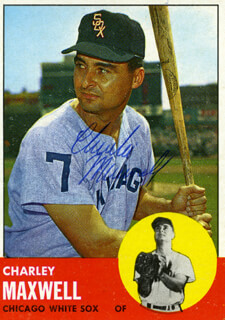 CHARLIE SMOKEY MAXWELL - TRADING/SPORTS CARD SIGNED
