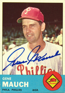 Autographs: GENE SKIP MAUCH - TRADING/SPORTS CARD SIGNED