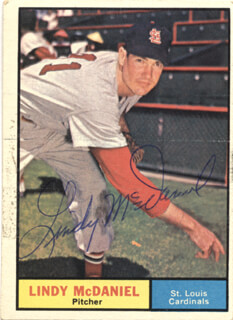 LINDY McDANIEL - TRADING/SPORTS CARD SIGNED