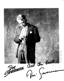 DOC SEVERINSEN - AUTOGRAPHED SIGNED PHOTOGRAPH