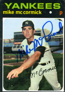 MIKE FRANCIS MCCORMICK - TRADING/SPORTS CARD SIGNED