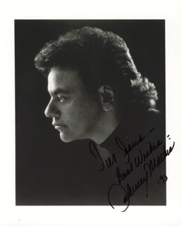 JOHNNY MATHIS - AUTOGRAPHED INSCRIBED PHOTOGRAPH 1993