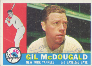 GIL McDOUGALD - TRADING/SPORTS CARD SIGNED