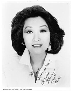CONNIE CHUNG - AUTOGRAPHED INSCRIBED PHOTOGRAPH