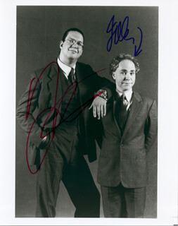 PENN & TELLER - AUTOGRAPHED SIGNED PHOTOGRAPH CO-SIGNED BY: PENN & TELLER (JOE TELLER), PENN & TELLER (PENN JILLETTE)