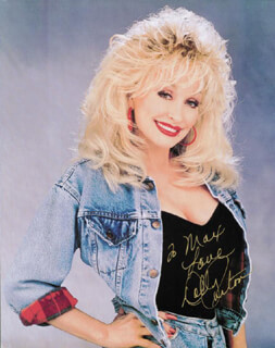 DOLLY PARTON - AUTOGRAPHED INSCRIBED PHOTOGRAPH