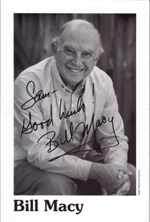 BILL MACY - AUTOGRAPHED INSCRIBED PHOTOGRAPH