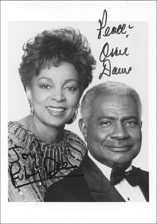 OSSIE DAVIS - AUTOGRAPHED SIGNED PHOTOGRAPH CO-SIGNED BY: RUBY DEE
