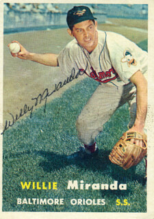 WILLY MIRANDA - TRADING/SPORTS CARD SIGNED