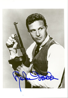 ROBERT STACK - AUTOGRAPHED SIGNED PHOTOGRAPH