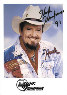 HANK THOMPSON - AUTOGRAPHED SIGNED PHOTOGRAPH 1993
