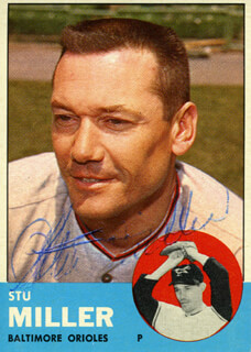 STU MILLER - TRADING/SPORTS CARD SIGNED