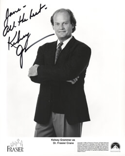 KELSEY GRAMMER - AUTOGRAPHED INSCRIBED PHOTOGRAPH